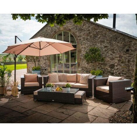 "main image of ""Ascot 3 Seater Rattan Garden Sofa Set (various colours)"""