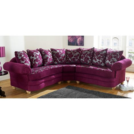 Ascot Fabric Corner Sofa Unit 2 Seater + Corner + 2 Seater