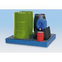 Asecos Kunststoff-Flachwanne - mit PE-Gitterrost, Auffangvolumen 355 Liter