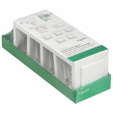 """main image of """"Asfora lot de 5 va et vient blanc, Schneider Electric réf. EPH0423121"""""""