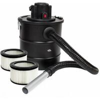 Ash vacuum cleaner 1200 W, metal suction hose + filter + 2 spare filters - ash hoover, ash vacuum cleaner, fire ash hoover - black