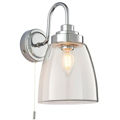 Ashbury Outdoor 1Lt Wall Light IP44 4W SW - Clear Glass Industrial Design