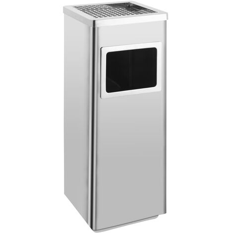 Ashtray Dustbin Hotel 36 L Stainless Steel