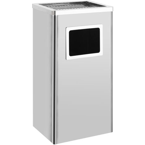 Ashtray Dustbin Hotel 45 L Stainless Steel