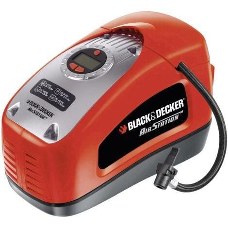 ASI300-QS Gonfleur-Compresseur filaire - 11 Bars - 160 PSI - 220 V ou allume-cigare 12V - Fourni avec 1 aiguille et 2 embouts