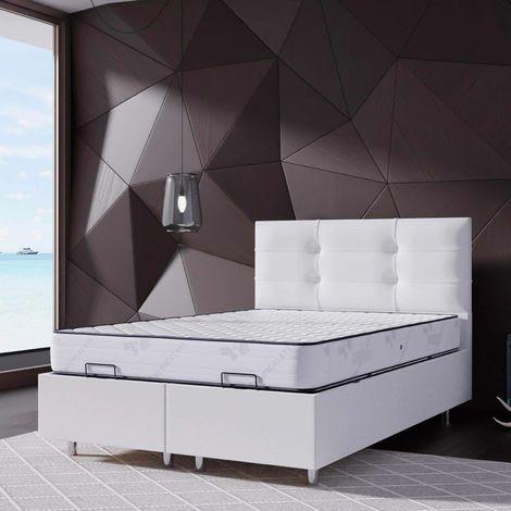 ASIA - Lit coffre 140x190 cm blanc