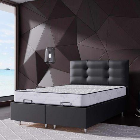 ASIA - Lit coffre 160x200 cm noir