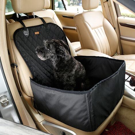 Asiento Coche Perro,Protector de Asiento de Coche,para asiento trasero de coche para Mascotas y Viajes 45x50x58cm Negro