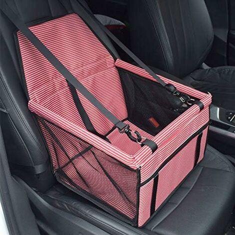 Asiento de coche LITZEE para perros o gatos, bolsa de transporte para perros, funda de refuerzo de tela Oxford impermeable con cinturón de seguridad de viaje para chinots