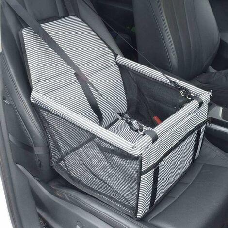 Asiento de coche para perros LITZEE - impermeable - manta para mascotas - asiento trasero y asiento delantero - bolsa de transporte para perros pequeños y gatos