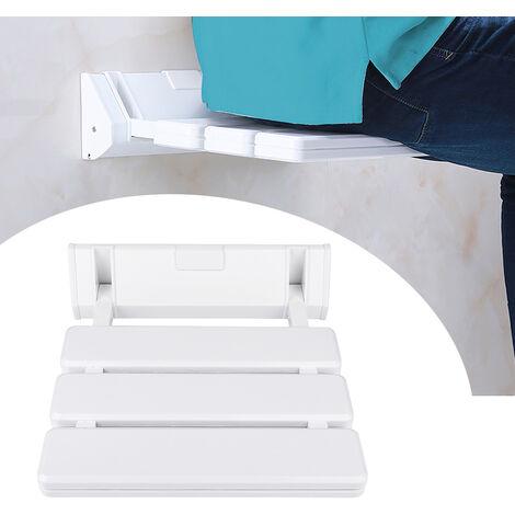 Asiento de ducha abatible para silla de ducha Taburete de baño Asiento de ducha Silla de baño   blanco