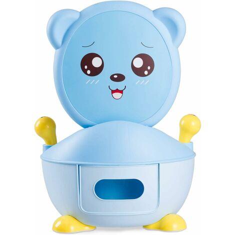 Asiento de Inodoro para Niños Baño Portátil Infantil Entrenador de Orinal Azul