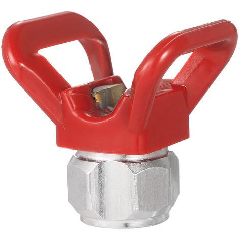 Asiento de proteccion de boquilla de punta plana de pistola de pintura,Rojo
