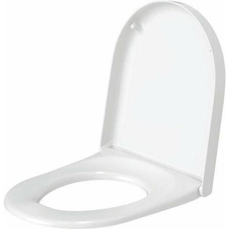 Asiento de WC Duravit Starck 3 sin bisagras SoftClose acero inoxidable, blanco - 0063810000