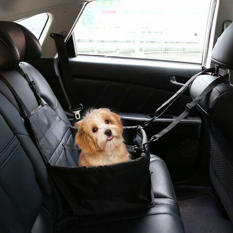 Asiento elevador de coche LITZEE para perros o gatos, bolsa de transporte para perros, funda de refuerzo de tela Oxford impermeable con cinturón de seguridad de viaje para chinots