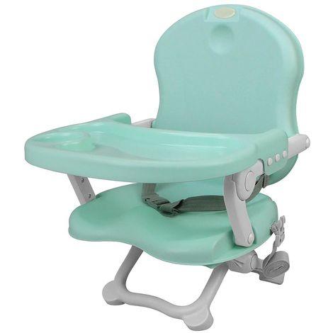 Asiento elevador para bebé, Silla portátil para alimentación de bebés, Verde, Alto: 38/42/46/50 cm