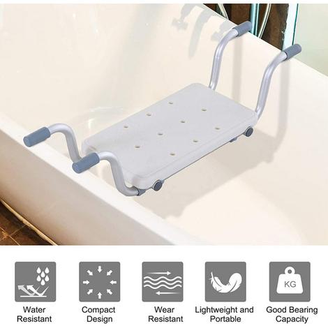 Asiento para bañera blanco banqueta para ducha,taburete ajustable