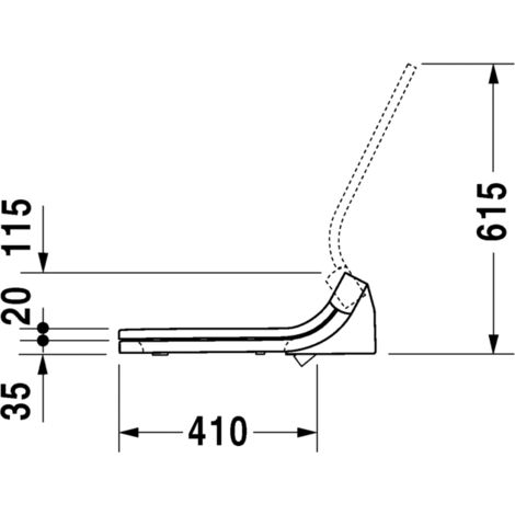Asiento para WC de ducha y Starck e Duravit SensoWash® para DuraStyle, 610200 - 610200002004300