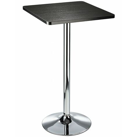Aslop High Poseur Kitchen Bar Table Square Top Black,Oak And Walnut