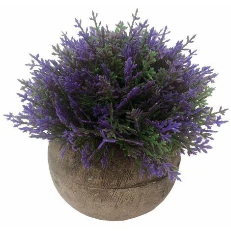 Asparago polpa artificiale Bonsai fiore artificiale fiore artificiale fiore verde pianta pianta artificiale pianta artificiale in vaso (viola)