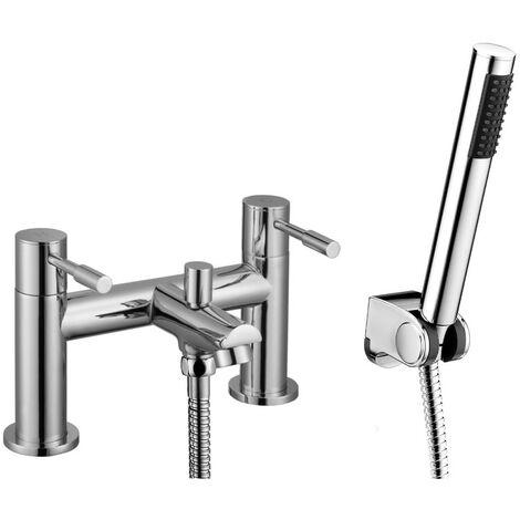 Aspen Chrome Bath Shower Mixer & Shower Kit