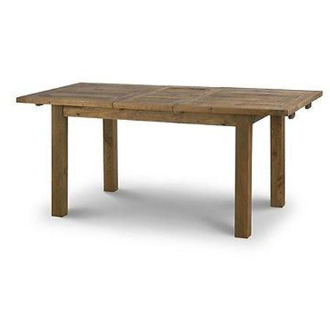 Aspen Extending Dining Table Rustic Solid Pine Thick Top