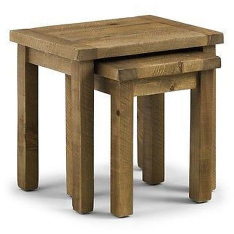 Aspen Nest Of Tables Pine Wood Living Dining Room Decor