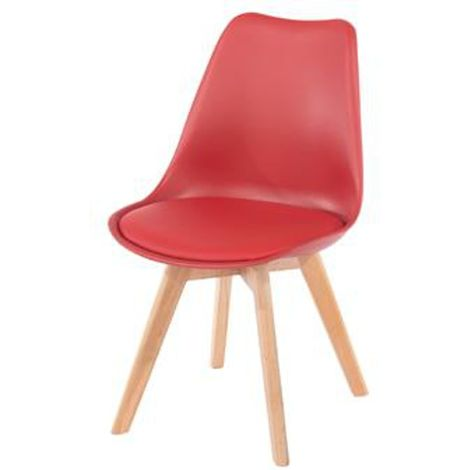Aspen Padded Seat Chair Red