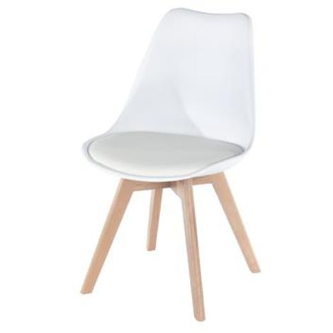 Aspen Padded Seat Chair White