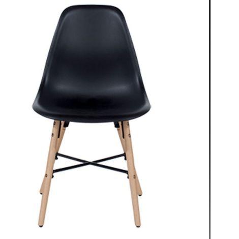Aspen Plastic Pp Chair 6, Black
