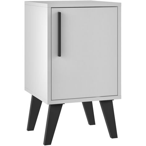 """main image of """"Aspen White Sidetable with Door"""""""