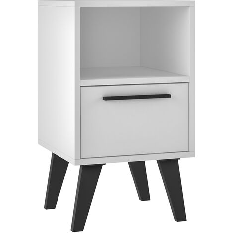 """main image of """"Aspen White Sidetable with Drawer"""""""