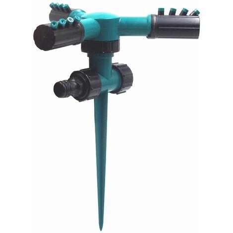 Asperseur Arrosage Jardin sur pic. Arroseur Rotatif avec réglage à Secteur pour Irrigation optimale de Jardin pelouse et Grandes Surfaces (3PCS)