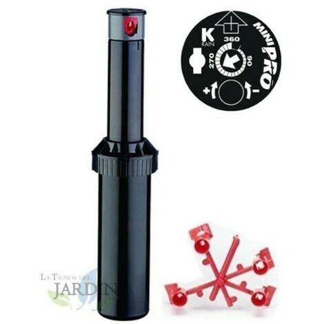 "Aspersor KRain Minipro 1/2"", Alcance 5,1 a 9,1 m"
