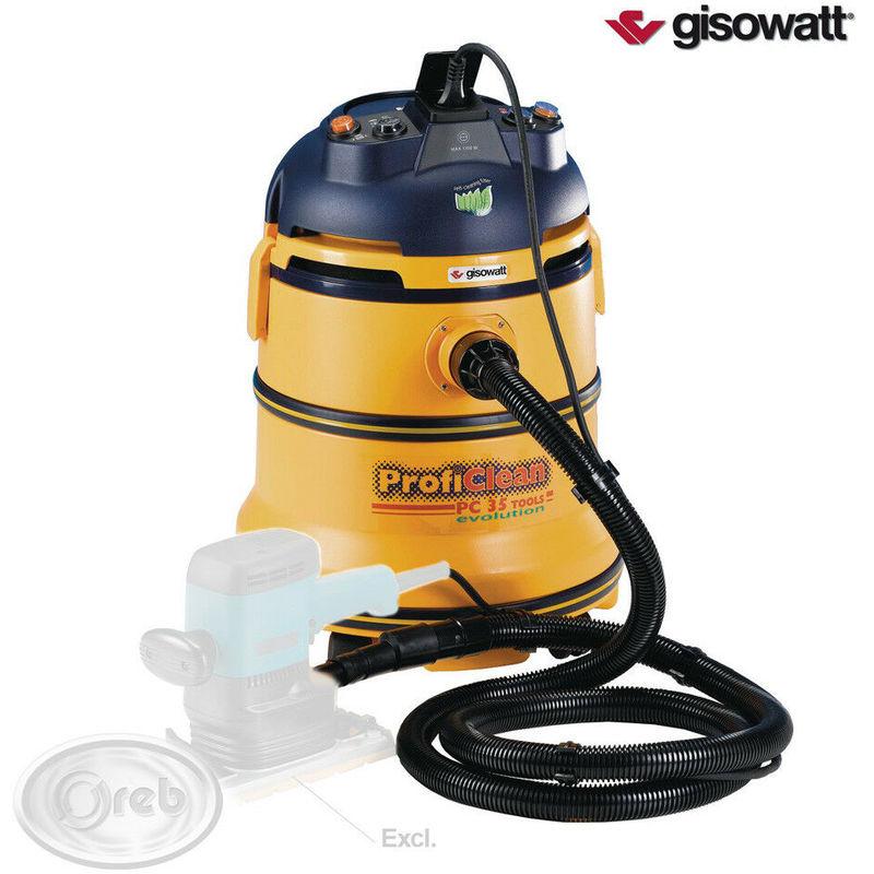 Aspira polvere liquidi gisowatt pc 35 tools evolution 1350w scuotitore autom