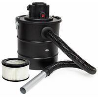 Aspirador de ceniza 1200W, tubo de aspiración de metal + filtro + 1 filtro de repuesto