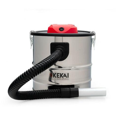 Aspirador de Cenizas 1200 W Acero Inoxidable Kekai Trajano 18 L 30x30x33,5 cm Filtro HEPA Y Función de Soplado