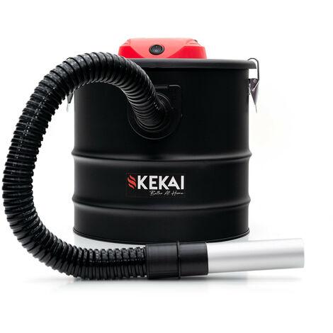 Aspirador de Cenizas 1200 W Acero Negro Kekai Trajano 18 L 30x30x33,5 cm Filtro HEPA Y Función de Soplado