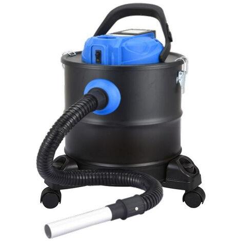 Aspirador de cenizas con batería recargable de litio 18V para chimeneas y barbacoas con bidón 20L y filtro Hepa