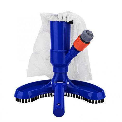 Aspirador de piscina Cepillo de cabeza Herramienta de limpieza de piscinas, con bolsa de malla Cepillo de limpieza por succion