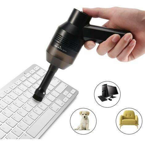 Aspirador de teclado inalámbrico, Limpiador de teclado USB, Mini aspirador de teclado de coche de 1000 Pa, Kit de limpieza de polvo, Teclado, Coche, Pelo de animal, Ordenador portátil, Limpieza del espacio del sofá
