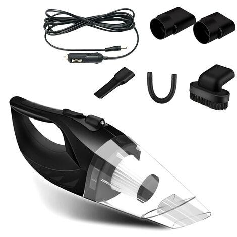 Aspirador del coche de alta potencia con cable portatil para aspiradoras de mano automatico DC 12V para una limpieza rapida de coches, Negro