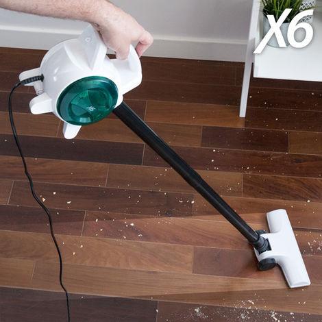 Aspirador Escoba y de Mano X6 Handy Vacuum 0,5 L 400-600W Blanco Verde