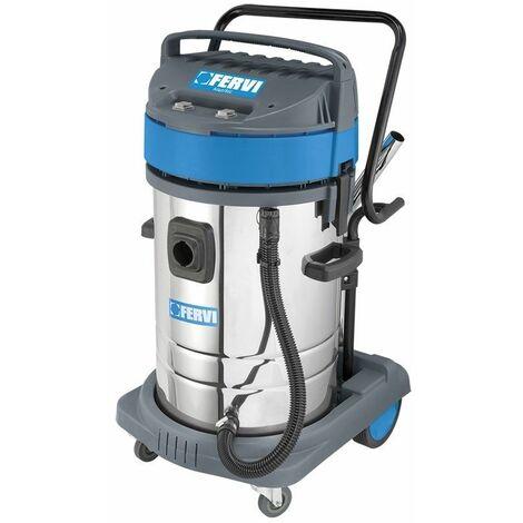 Aspirador industrial de polvo y agua 80l 2 motores FERVI A040/802