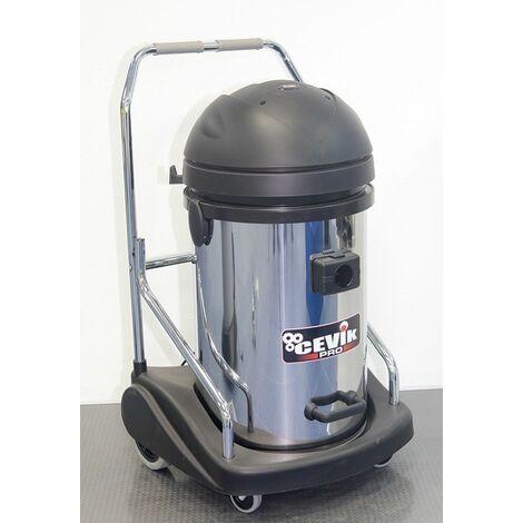 Aspirador para líquidos y solidos 77 lt. 2900 w. Tanque Inox. 3 motores CEVIK CE-PRO703INOXTR