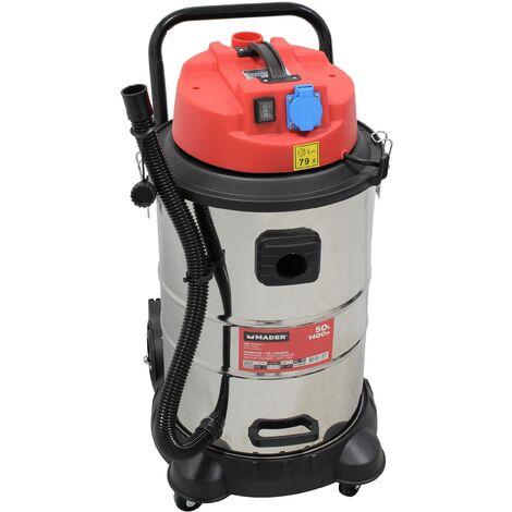 Aspirador Polvo/Liquidos, INOX, 1400W, 50L - MADER® | Power Tools
