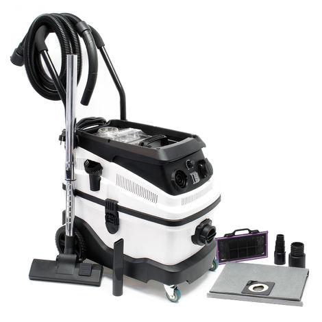 Aspirador seco y húmedo 1600W con sistema de filtrado de 3-niveles, accesorios y función de soplado