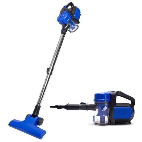 Aspirador Sin Cables Vertical 2en1 Blue Power. Filtro HEPA, Batería Litio, Gran Potencia de Succión. Aspirador Compacto y Ligero