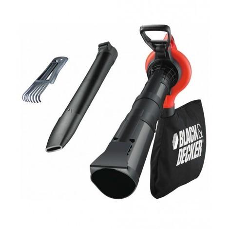 Aspirador Soplador eléctrico Black+Decker con Bolsa 2800w - Sistema doble Tubo GW2838