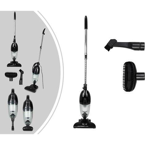 Aspiradora 2 en 1 Vertical y De Mano, Aspiradora 2 en 1, Negro, Capacidad del recipiente de polvo: 1,3 L
